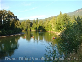 River float in Sicamous, BC