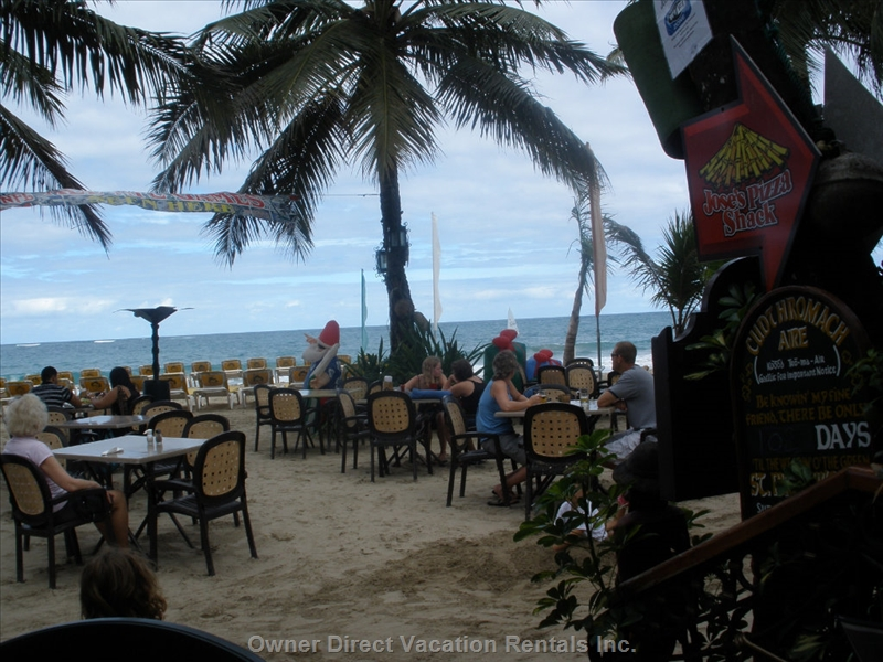 Beach restaurant in Ocean Dream at Cabarete beach