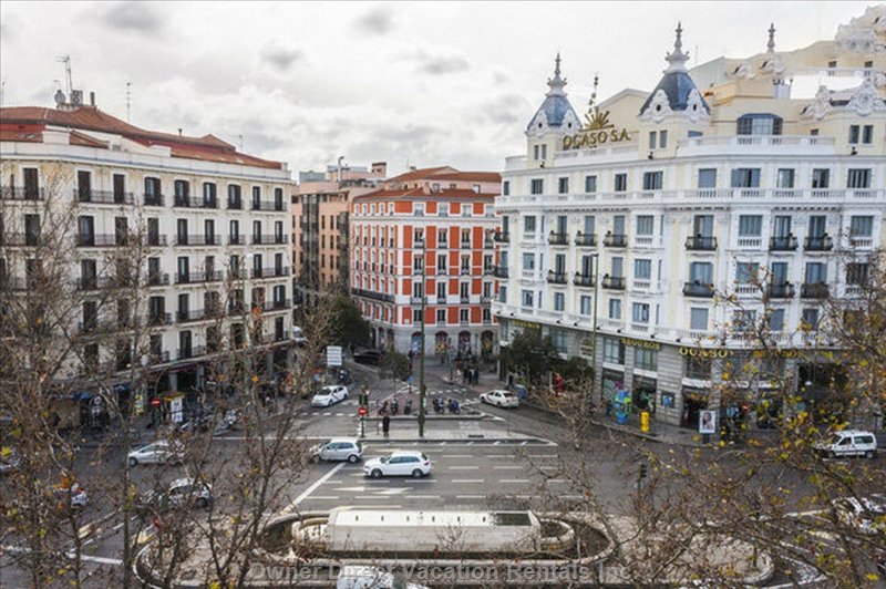 Superb location and nice views of central Madrid