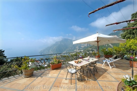 Villa on the Amalfi Coast with swimming pool