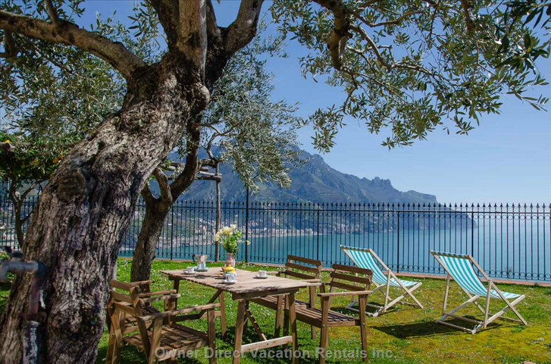 3-beddroom villa with great view of Amalfi Coast