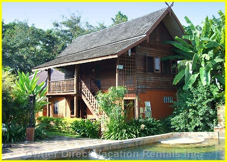 Experience traditional luxurious Thai homestay with tranquil nature