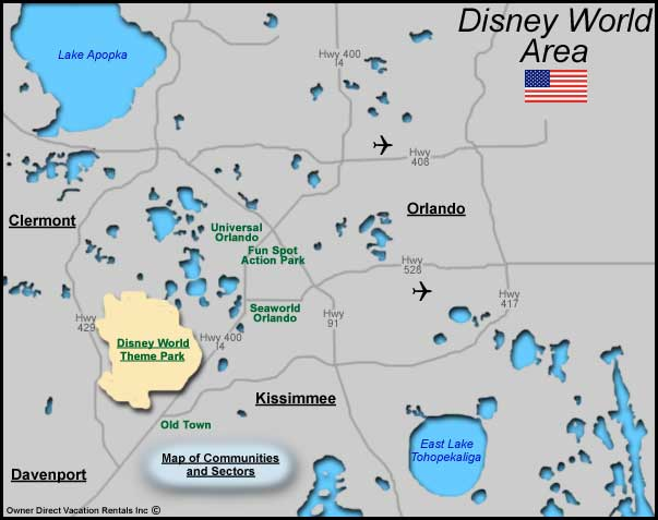 Disney World Area Map