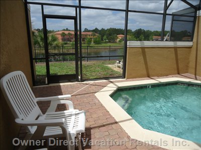 Private Pool, Screened Patio Overlooking Lake