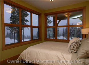 2nd Bedroom - Queen Bed.  Huge Windows with Exceptional Views, Dual Closets, Separate Heating Zone.