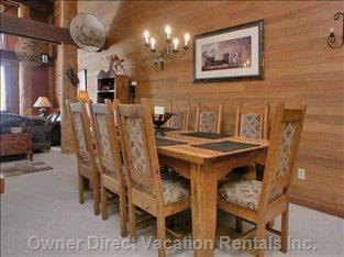 Dining Room Table with 8 Comfortable Chairs