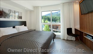 Bedroom with Mountain Views and a King Bed