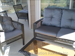 Patio Furnishings for 4 Adults.
