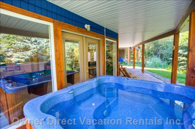 Hot Tub and Lower Deck