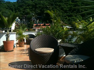 Rooftop Terrace Accessible by all Units. View of the Hills and Rio Cuale River
