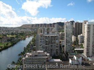 View of Diamond Head and City from Lanai