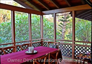 Dining Room is in the Covered Lanai