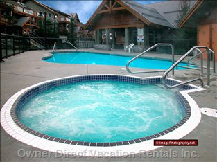 Glaciers Reach Shared Hot Tub - Glaciers Reach has a Shared Hot Tub as Well as your Own Private Hot Tub