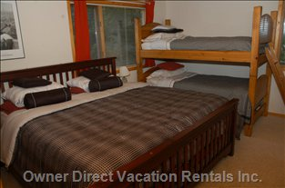 Bedroom with King Bed and Bunks