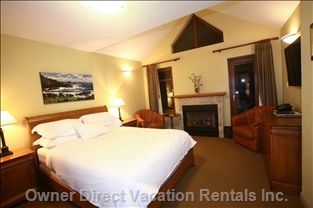 Three Bedrooms Have Fireplaces in them Too.  4 Fireplaces in the Chalet.  Each Bedroom has 450 Count Frette Linen.
