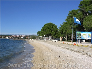 Beach with Blue Flag Awarded for Crystalclear Sea